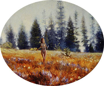 nude in field