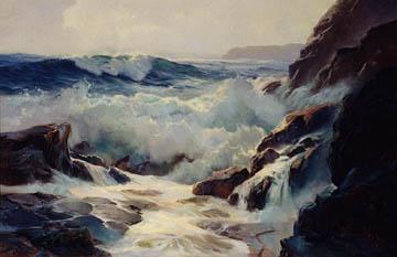 Vernon Kerr California Artist Paintings Seascapes