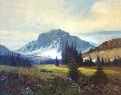 [photo of unknown mountain painting]