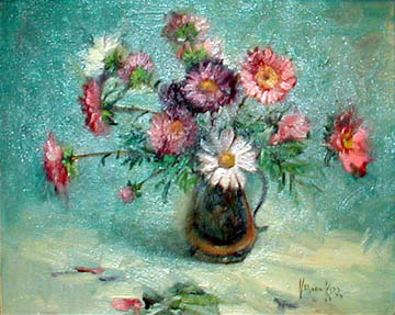 [painting of asters]