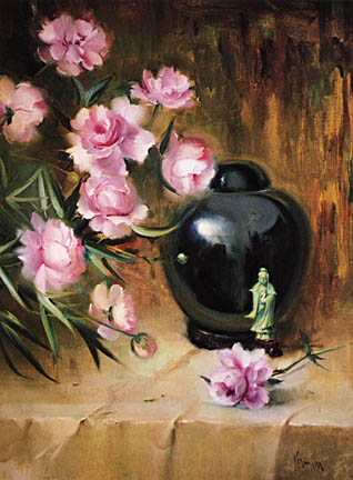 stilllife with vase and roses
