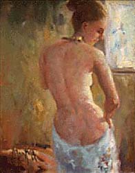nude woman, view from back